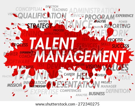 Word cloud of Talent Management related items - stock vector