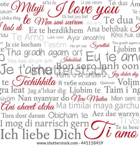 Word love stock images royalty free images vectors shutterstock phrase i love you in different languages of the world vector stopboris Image collections