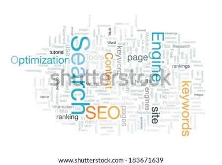 Word cloud seo concept vector - stock vector