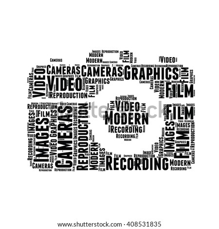 word cloud sharp vector design camera