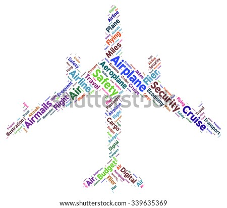 Word cloud with concept illustration air travel safety. - stock vector