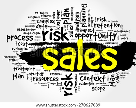 Word Cloud with Sales related tags, business concept - stock vector