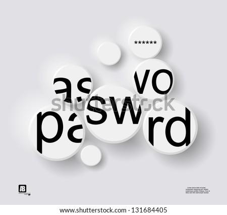 "word ""password"" in circles - stock vector"
