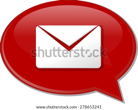 Word speech bubble illustration of discussion forum blog envelope mail post vector - stock vector