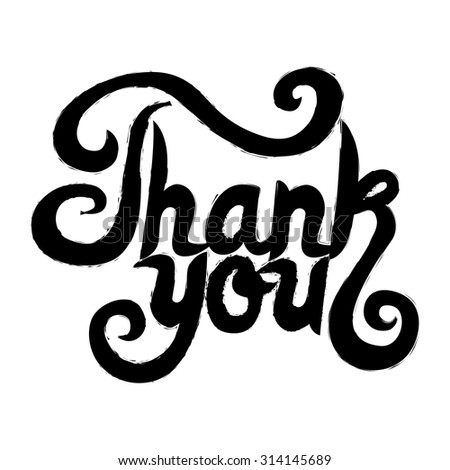 word thank you. Vector illustration - stock vector