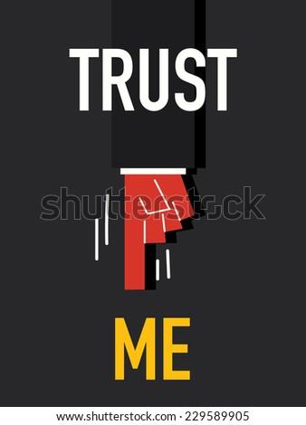 Word TRUST ME  - stock vector