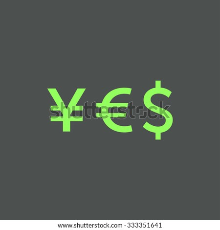 Word Yes Currency Symbols Yen Euro Stock Vector Hd Royalty Free