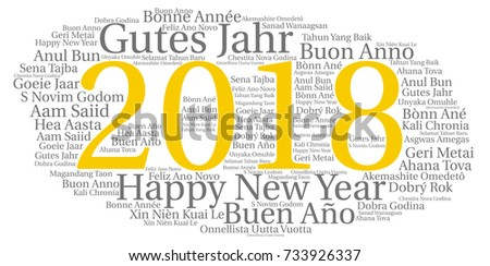 Words Cloud Concept New Year All Stock Vector Shutterstock - All languages in the world