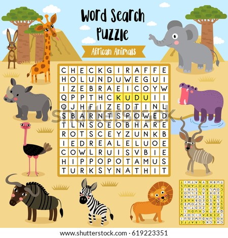 Seed Dispersal Worksheets Pdf Words Search Puzzle Game Shapes Preschool Stock Vector   Past Tense And Present Tense Worksheets with Blank Check Worksheet Word Words Search Puzzle Game Of African Animals For Preschool Kids Activity  Worksheet Colorful Printable Version Printable Worksheets For Kids