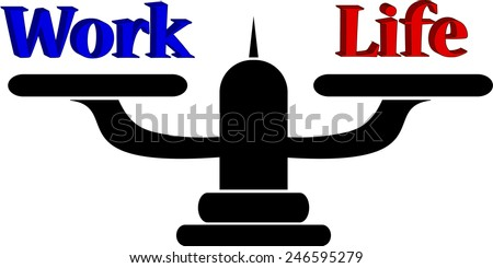 Work and life balance concept - stock vector