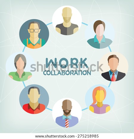 work collaboration - stock vector