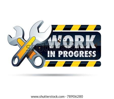 work in progress - stock vector