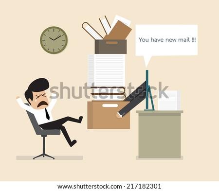 Work is ordered online - stock vector