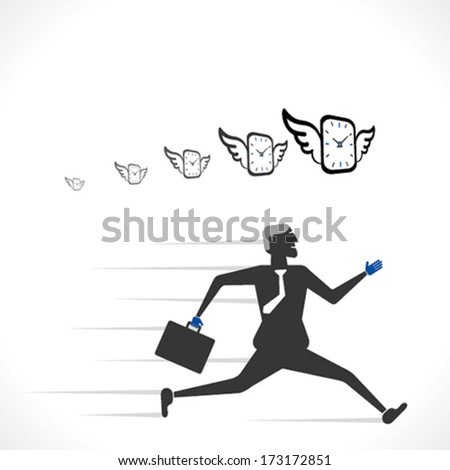 work on time or time is money concept vector - stock vector
