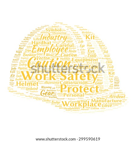 Work safety word cloud - stock vector