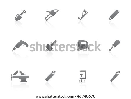 work tool icon set - stock vector