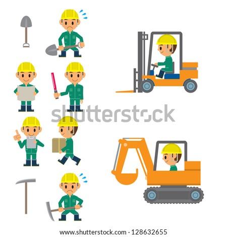 worker - stock vector