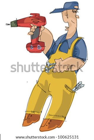 worker - cartoon