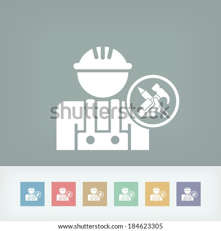 Worker icon - stock vector