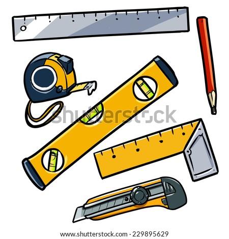 worker tools set 2 - stock vector