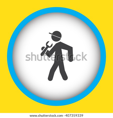 Worker with Wrench vector icon