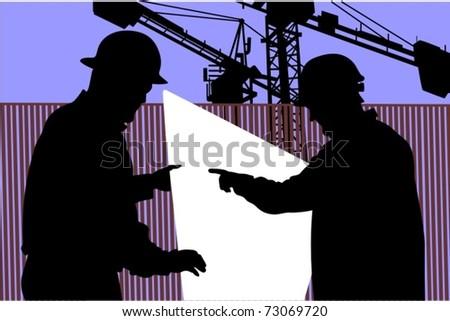 Workers - stock vector