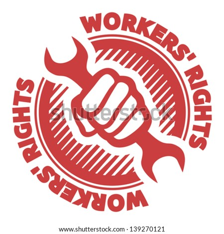 workers' rights - stock vector