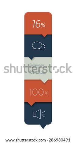 Workflow step option banner. Minimalistic vector design infographic. - stock vector