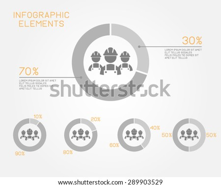 workforce infographic pie chart business human resources employment professional  - stock vector