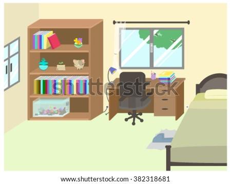Working Bed Room - stock vector