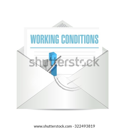 working conditions mail sign concept illustration design graphic