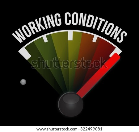 working conditions meter sign concept illustration design graphic - stock vector