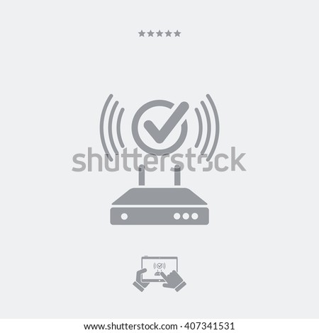 Working connection modem icon - stock vector