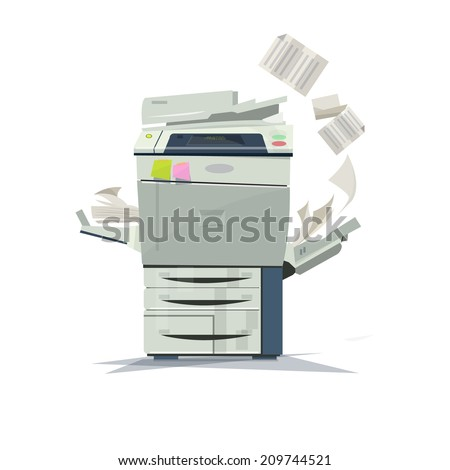 working copier printer  - vector illustration - stock vector