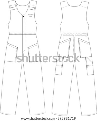 Working overall costume design vector illustration