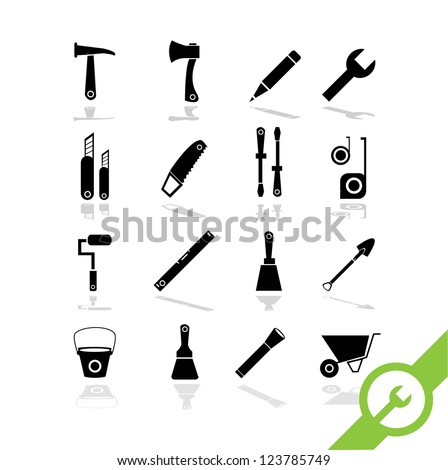 Working tools icon set 3 - stock vector