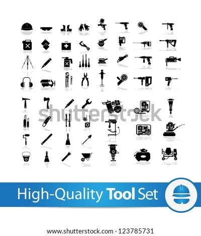 Working tools icon set  ( Electronic , equipment , hand tools , oil,motor ) 2 - stock vector