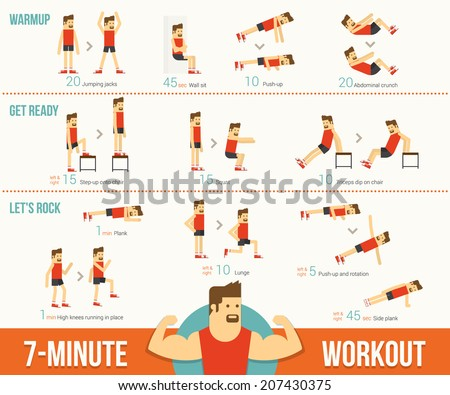 Workout - stock vector