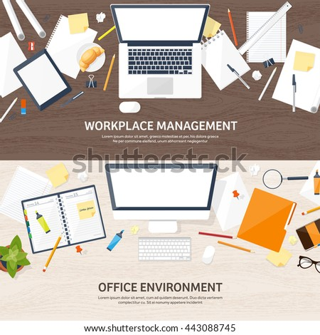 organize office paperwork flat vector illustration job application teamwork stock vector