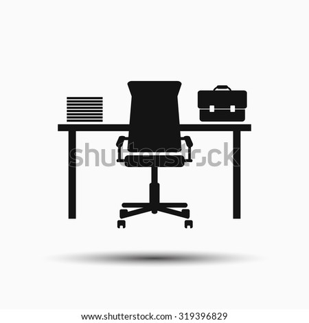 workplace. table office worker