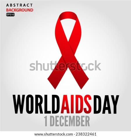 World AIDS Day 1 december 2014. Vector EPS 10 illustration. - stock vector