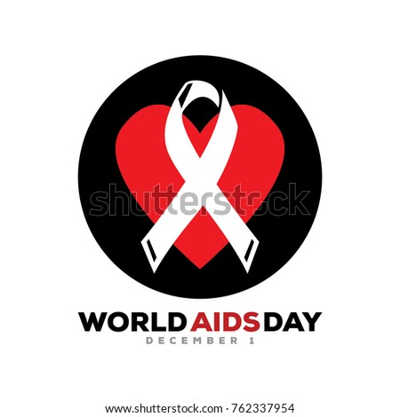 World Aids Day Illustration Circle Illustration Stock Vector