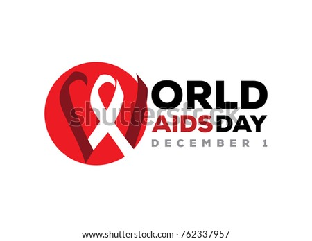 World Aids Day Illustration Symbol Peace Stock Vector 762337957
