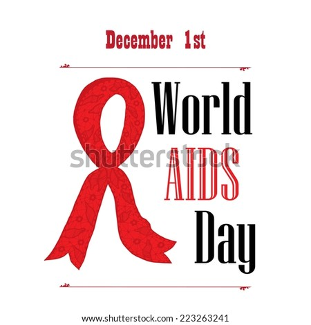 World AIDS Day poster - stock vector