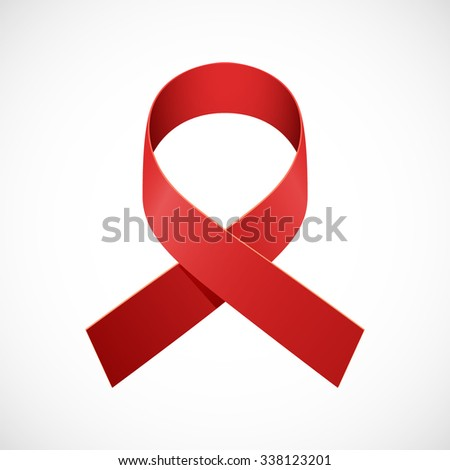 World AIDS Day Ribbon Design. AIDS Awareness Ribbon. Vector illustration. - stock vector