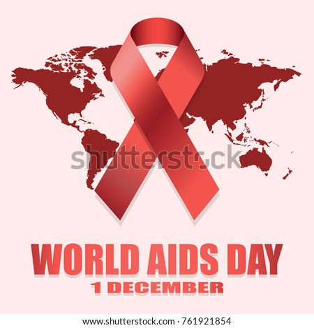 World aids day 1st december world stock vector 761921854 shutterstock world aids day 1st december world aids day poster with with red world map gumiabroncs Choice Image