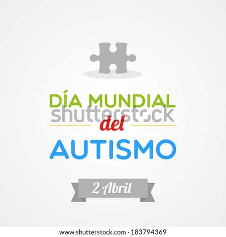 World Autism Day in Spanish - stock vector