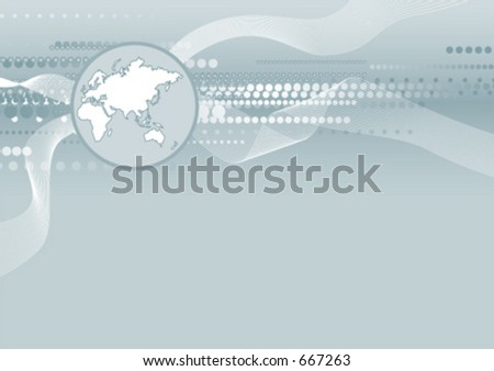 World background - stock vector