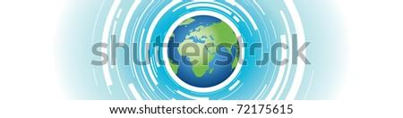 world background - stock vector