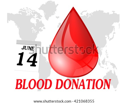 World blood donation day.vector - stock vector